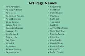 cool art names for insram account