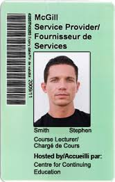 Work Identity Card Mcgill Service Providers Id Card And Related Services
