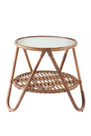 Small Round Rattan Table Furniture Beautiful Dark Brown Round Wicker Side Table For Small
