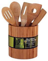 Kitchen Utensil Holder Amazoncom Totally Bamboo Laser Monogrammed Oval Utensil Holder