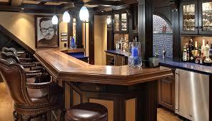 Home Basement Bars Interior Wooden Bar Designs For Home Basement Bar Ideas
