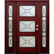 modern wood interior doors. Modern Wood Doors 3 Lite Stained Mahogany Front Door Glass Interior  H