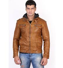 brown leather jacket for men motorcycle use