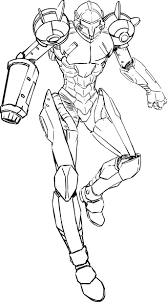 Small Picture Metroid Coloring Pages Metroid Teen Computer Graphic About