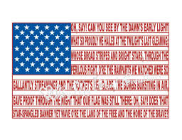 american flag word art american flag digital word art american national anthem wall art