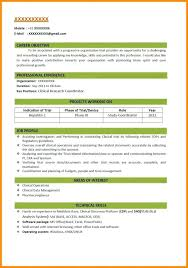 New Resume Format Download – Armni.co