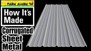 how its made sheet metal barn metal corrugated panel
