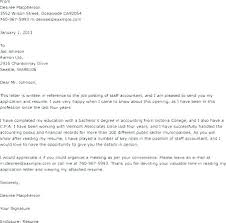 Cover Letter Examples For Graduate Accounting Jobs Example Intended