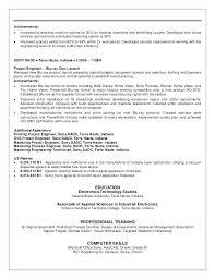 Plc Technician Resume Sample Optical Engineer Sample Resume Fiber
