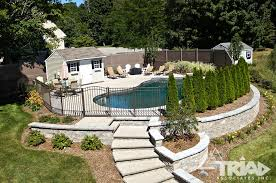 finished retaining wall projects