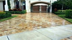 cost brick pool deck stone outdoor flagstone vs estimated costs ivory travertine pavers paver installation per