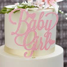 Girls Baby Shower Cake Toppers Christening Cake Decorations