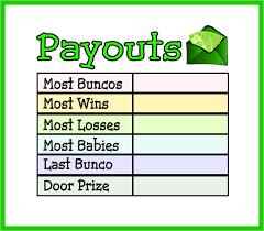 Bunco Payout Chart 10 Georgianna Kroy Ygyork On Pinterest