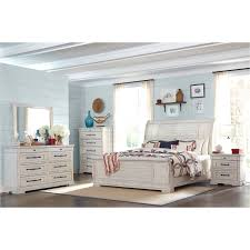 Rustic Chalk White 4 Piece King Bedroom Set - Coming Home | RC ...