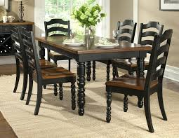 black and wood dining table distressed black dining room sets chairs seating distressed dining room chairs