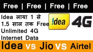 Idea Internet Recharge Chart Idea 4g Free For One Year Unlimited Internet Data Offer