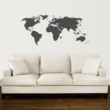 sticker awesome simple black world map wall art pictures wallpaper autralia usa singapore europa asia comfortable