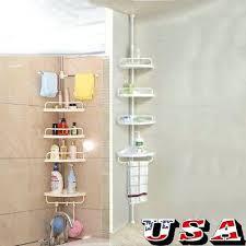 pole caddy 4 layers shower corner pole shelf holder bathroom storage rack organizer pole shower caddy pole caddy corner shower