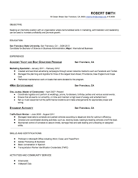 Basic Entry Level Resumes Simple Entry Level Resume Examples For College Students