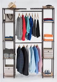 h dark bronze expandable closet organizer powder coated finish steel wire