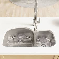René Stainless Steel 32 L X 18 W Double Basin Undermount Kitchen