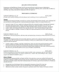 Small Business Manager Resume Bank Branch Manager Resume This