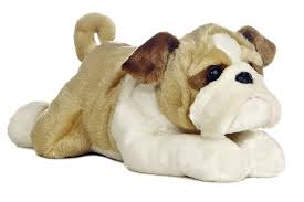 amazoncom aurora world flopsie  stuffed bulldog willis toys