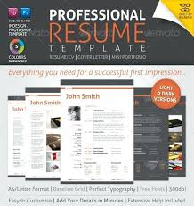 Creative Professional Resume Templates Banner Day Resume Template ...