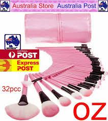 32pcs pink cosmetic makeup brushes