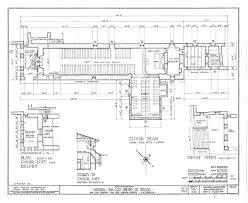 architectural drawing of floor plan from historic american buildings survey architecture drawing floor plans