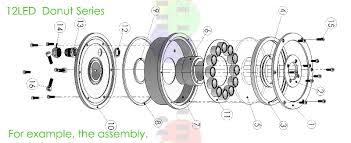 led fountain light model 12l 1d r led, we feel the led, led Led Part 12w donut led part 01 800 jpg led parts