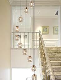 10 Glaskugeln Spirale Kronleuchter Treppe Lange Kronleuchter
