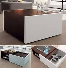 Low Table With Hidden Storage Space Freshome Com