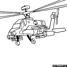 Small Picture Helicopter and Military Chopper Online Coloring Pages Page 1