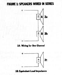 how to car stereo series vs parallel wiring to wire four speakers in series for example you connect the negative terminal