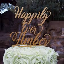 Happily Ever Family Name Personalized Cake Topper Wedding