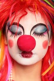 woman clown makeup photo 3