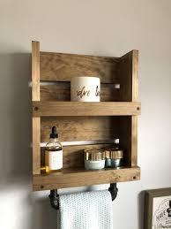 towel bar wall mounted shelf