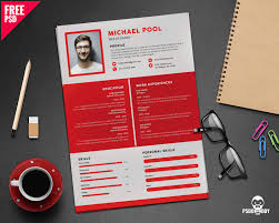 Resume Template Psd Free Download Download Clean And Designer Resume