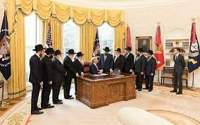 the oval office. A Delegation Of Rabbis From The Lubavitch-Chabad Movement Visit President Donald Trump In Oval Office R