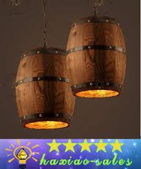 wine lighting. American Country Loft Wood Wine Barrel Hanging Fixture Ceiling Pendant Lamp E27 Light For Bar Cafe Living Dining Room Restaurant Clear Glass Lighting G