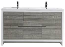 mod 60 double sink free standing