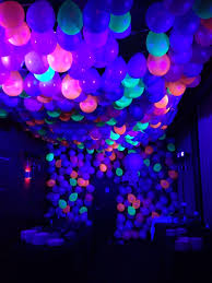 party lighting ideas. Party Decoration Idea Neon Ballon Ceiling With Black Lights Lighting Ideas