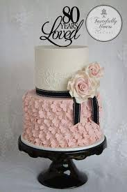 Black White And Pink 80th Birthday Cake Cakes In 2019 Birthday