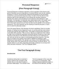 personal essay samples examples format  personal response essay sample