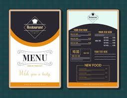 Resturant Menu Template Restaurant Menu Template Modern Black White Decor Free Vector In