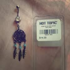 Dream Catcher Belly Button Rings 100% off Hot Topic Jewelry Hot Topic Blue Dream Catcher Belly 72