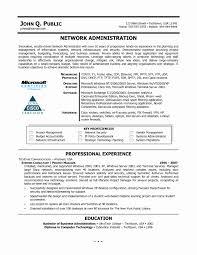 Network Administrator Resume Sample Pdf Fresh Administrator Jobion