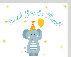 Free E Cards Thank You Thank You So Much Free Baby Shower Thank You Ecards