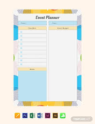 Free Event Planner Templates Free Event Planner Template Word Excel Psd Indesign